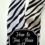 How to Tea Stain Fabric