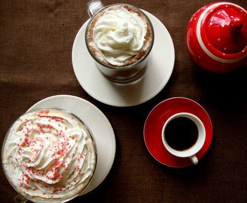 Raspberry Mocha Latte and Over 40 fall drink recipes including cocoas, ciders and cocktails