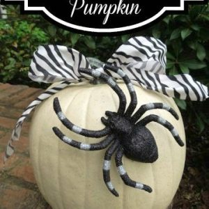 Halloween Crafts: A Black and White No Carve Pumpkin