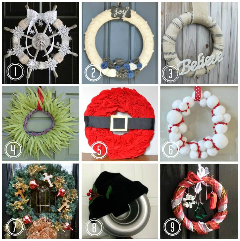 Christmas Wreath Ideas Links to Posts