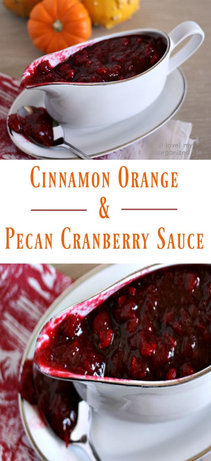 Make this 10-minute homemade cranberry sauce for Thanksgiving with pecans, orange, and cinnamon. You family with thank you I promise.