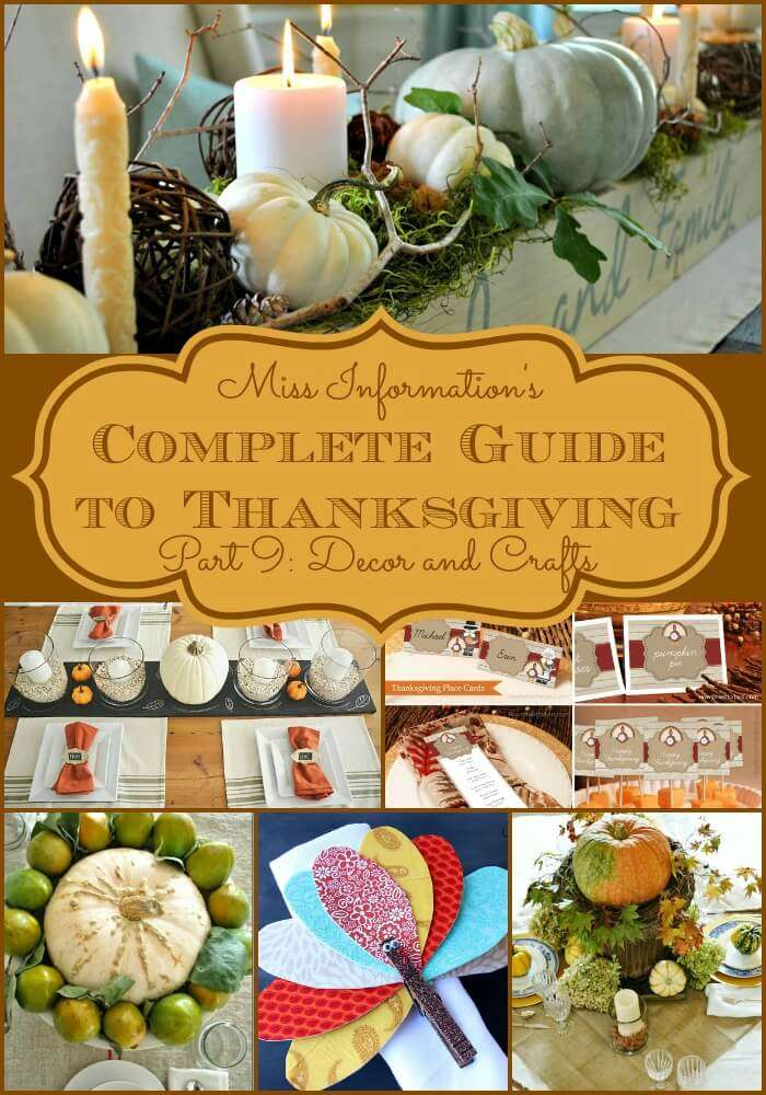 Thanksgiving Table Decorations and Printables | Miss Information