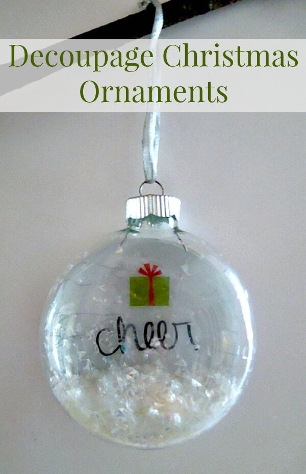 Decoupage Christmas Ornament DIY | Martha Stewart Crafts | Miss ...