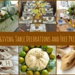 Thanksgiving Table Decorations and Printables