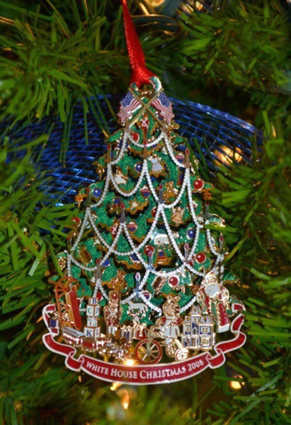 Decorating a Themed Christmas Tree can be a fun family tradition and you can decorate it with anything you are in love with like this White House Christmas Tree.