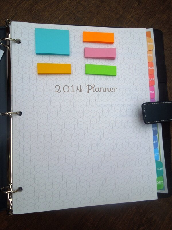 Say Not Sweet Anne's 2014 blog planner