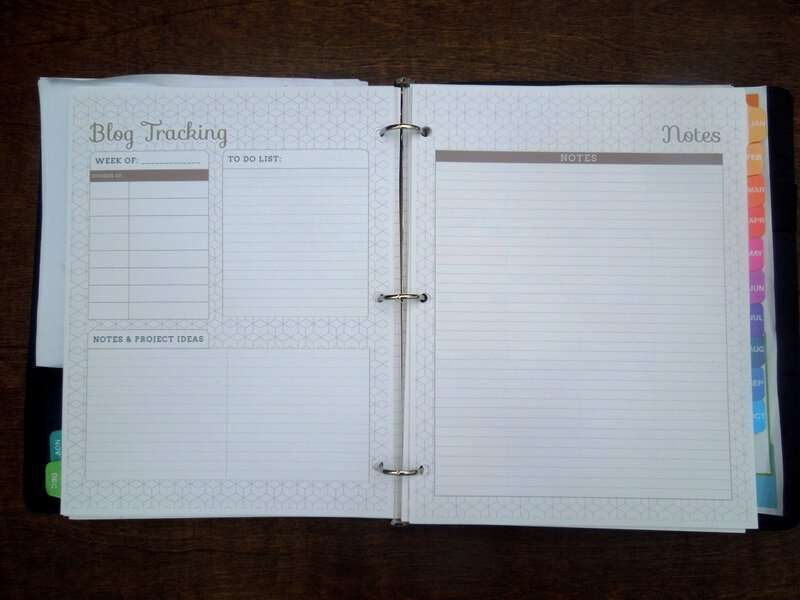 2012 Blog Planner Stats and Notes