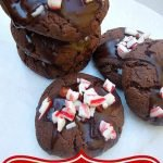 Chocolate Peppermint Cake Cookies
