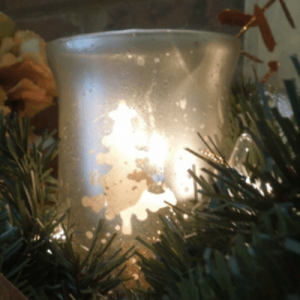 {Matte} Mercury Glass Votives