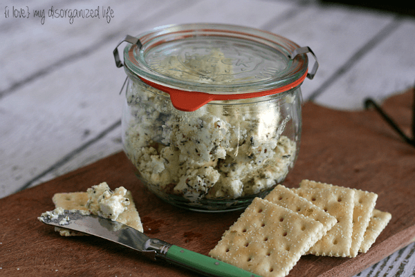 Herbed Goat Cheese from {i love} my disorganized life