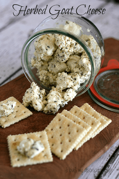 Herbed Goat Cheese - {i love} my disorganized life