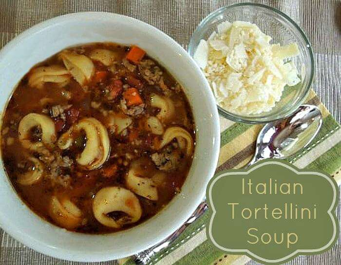 Italian Tortellini Soup, easy to make and perfect for the whole family