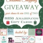 Amazon Gift Card Giveaway {2 at $250 each}