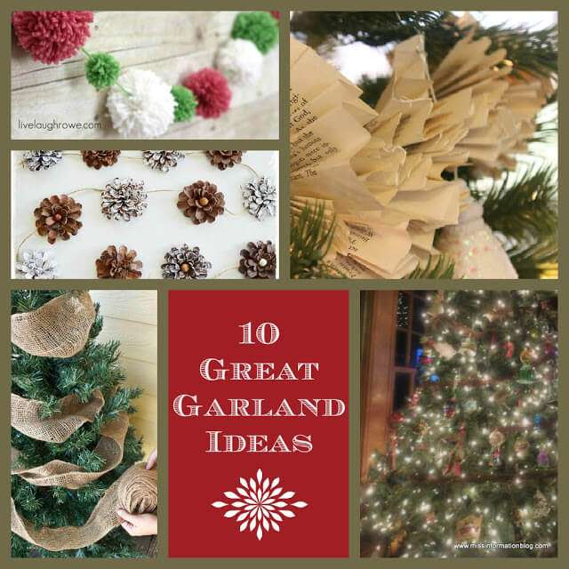 10 Garland Ideas for your tree that are simple to make