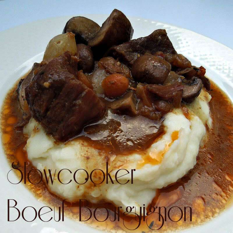 Slow cooker boeuf bourguignon tastes like you slaved over it for hours, but your Crock Pot does all of the hard work for you!