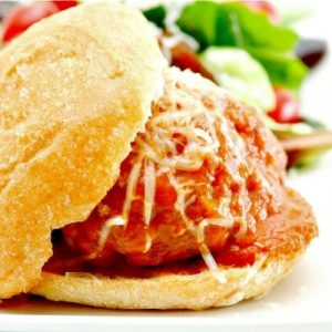 These easy meatball sliders are so yummy and quick to make in your slow cooker for an easy dinner or as an appetizer to bring to a party!