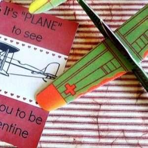 Airplane Valentine Card for Boys