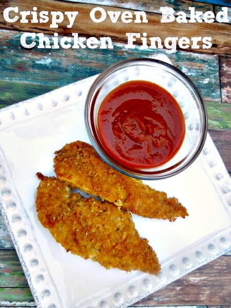 Make these oven baked chicken fingers and freeze them, you'll never buy store bought again!