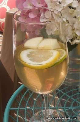 White Wine Sangria the perfect drink when it's hot outside