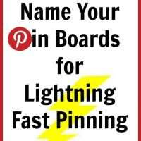 Rename your pin boards so you can find the one you want quicker and easier