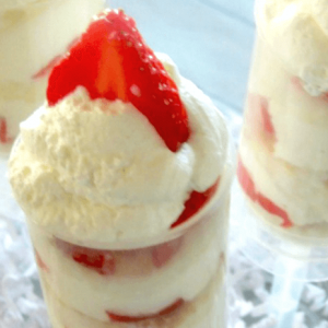 Strawberry Shortcake Push Pops with Lemon Whipping Cream