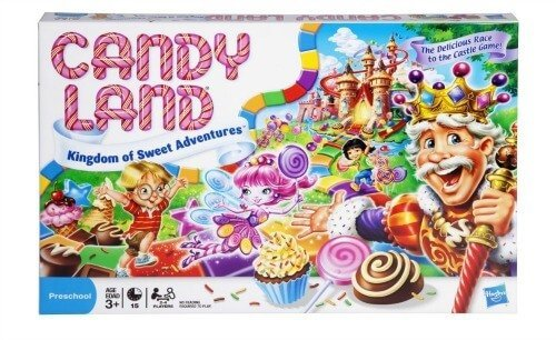 Candy Land great for the little ones. Kids learn colors, counting and competition