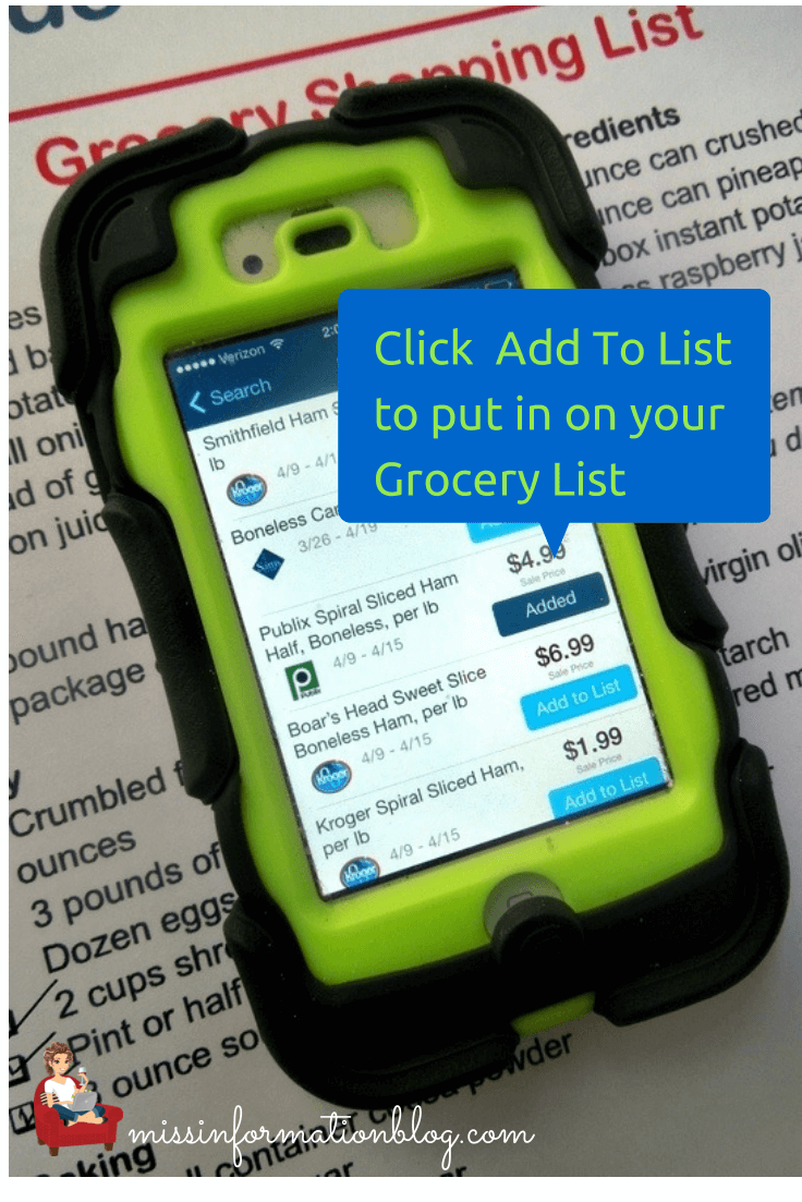 Use the Favado App to save on your grocery budget, it gives you local store sales and coupon info, then makes your list for you!