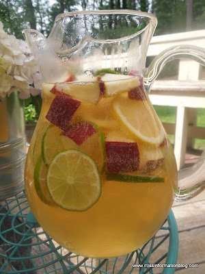 White Wine Sangria - perfect for summer or Cinco De Mayo