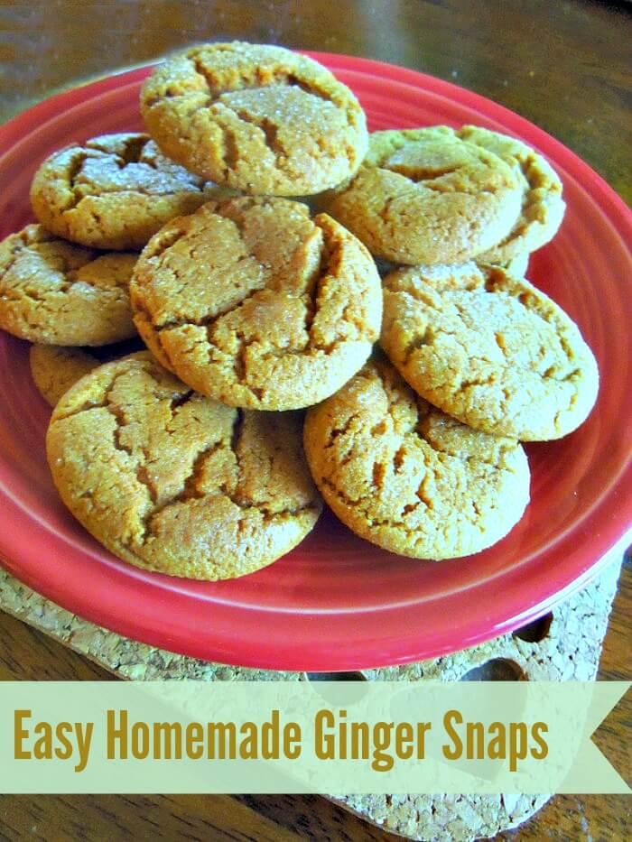 Easy Homemade Ginger Snaps chewy on the inside, crunchy on the outside