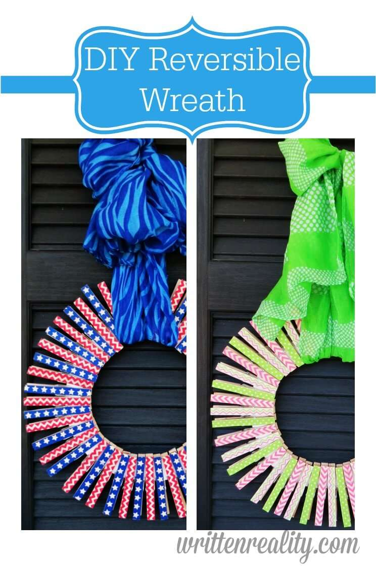 DIY Reversible Wreath Featured on Cook it! Craft it! Share it! Link Party!