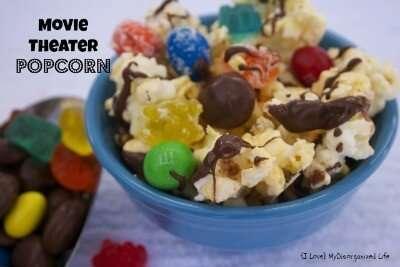 Movie Theater Popcorn {i love} my disorganized life #popcorn #candy #moviesnacks