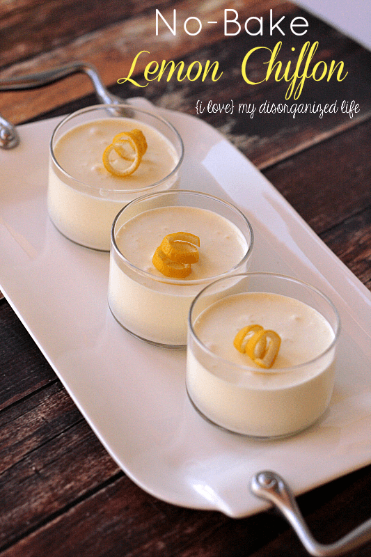 No-Bake Lemon Chiffon #lemon #nobake #dessert