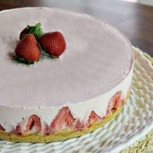 Strawberry Yogurt Pie - a Frozen no bake dessert sure to cool you off on a hot summer day