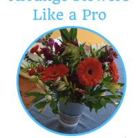 How to arrange flowers like a pro using a common household item ~ Quick Tip Tuesday's at Miss Information