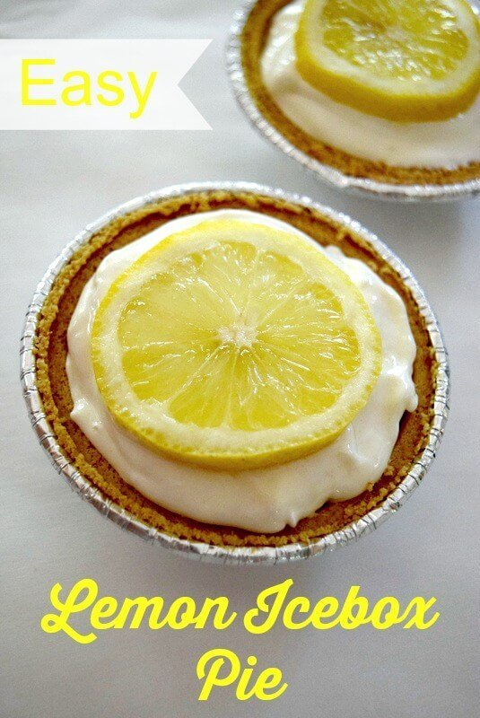 Easy no-bake lemon icebox pie, perfect for a quick summer dessert