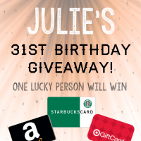 One winner $300 in gift cards to Amazon, Target and Starbucks!