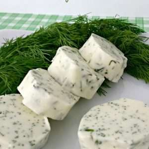 Dill Compound Butter via Juggling Act Mama