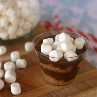 Nutella S'more Pudding Cups- homemade Nutella pudding with a delightful graham crust
