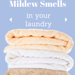 The easiest trick ever! No need to throw mildew towels in the rag bag anymore with this easy laundry tip to get the mildew smell out of towels and clothes!