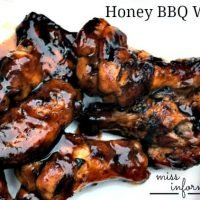 Honey BBQ Grilled Chicken Wings