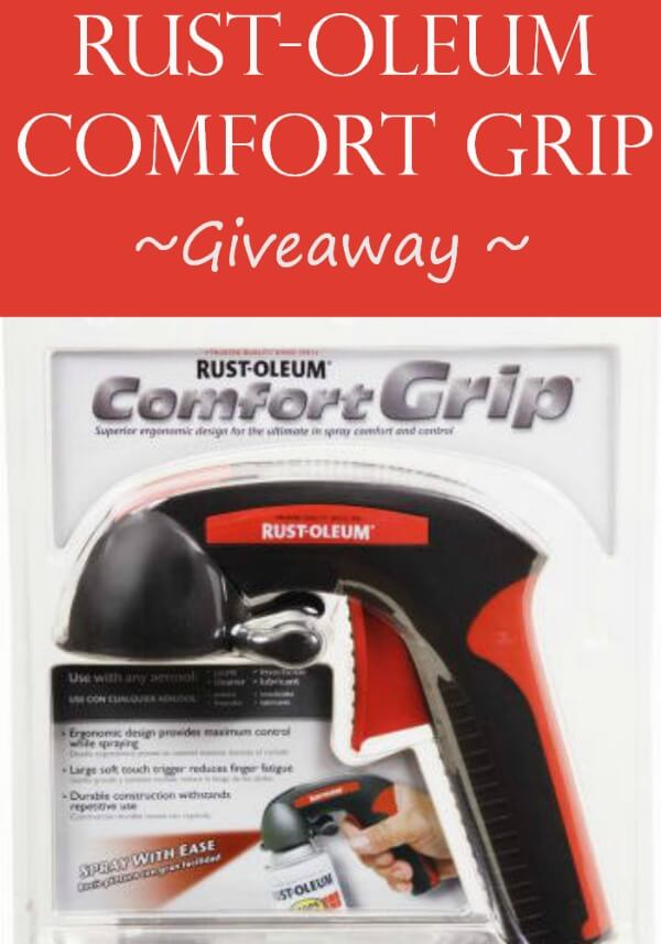 Rust-oleum Spray Paint Comfort Grip Giveaway - Miss Information