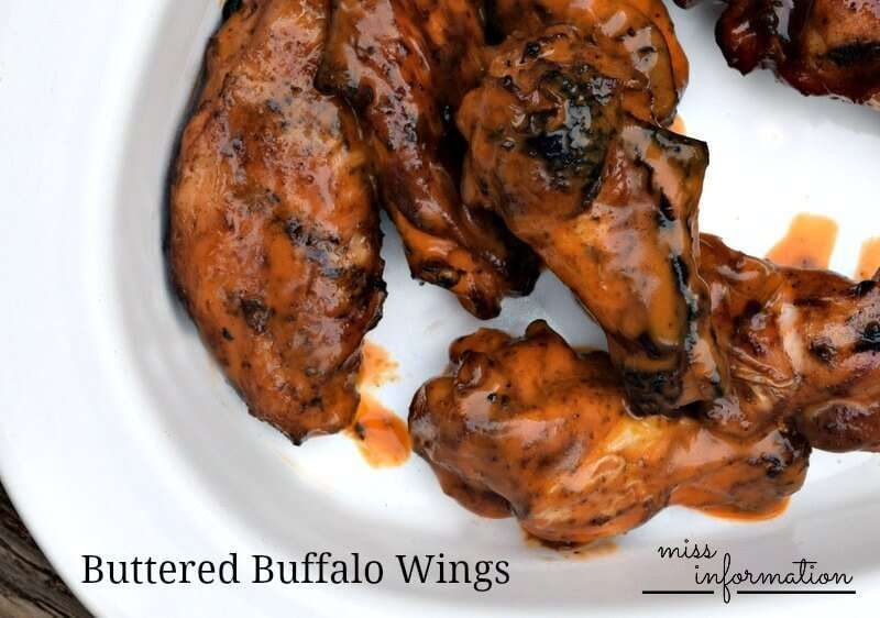 Buttered Buffalo Chicken Wings - Miss Information