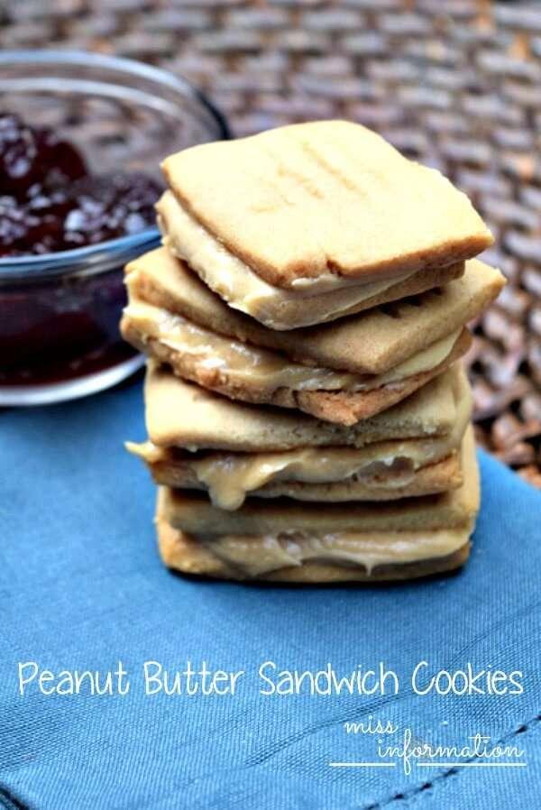 Peanut Butter Sandwich Cookies - Miss Information