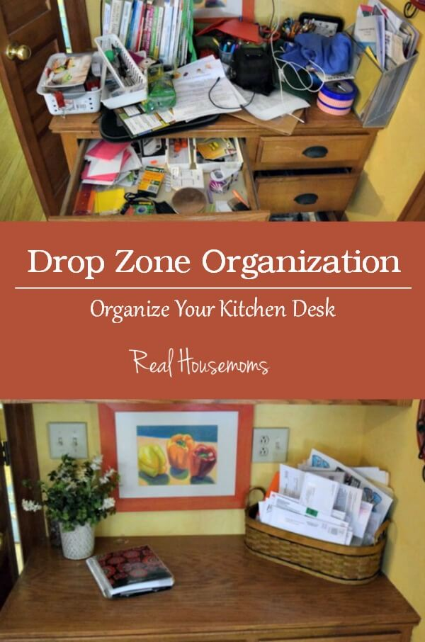 Kitchen Desk Organization - Miss Information for Real Housemoms