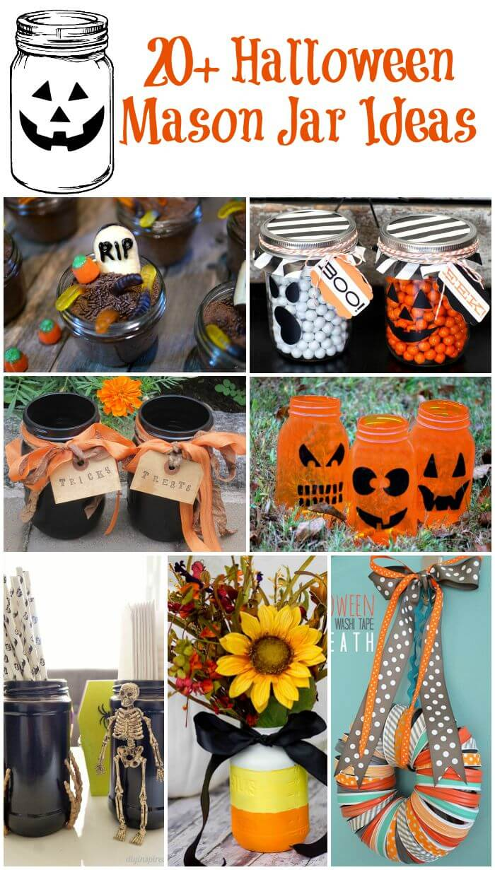 You're gonna love these Halloween mason jar ideas for food, decorations, and parties!