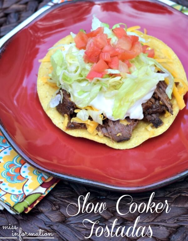 Slow Cooker Tostadas - Miss Information - Crock Pot Recipes