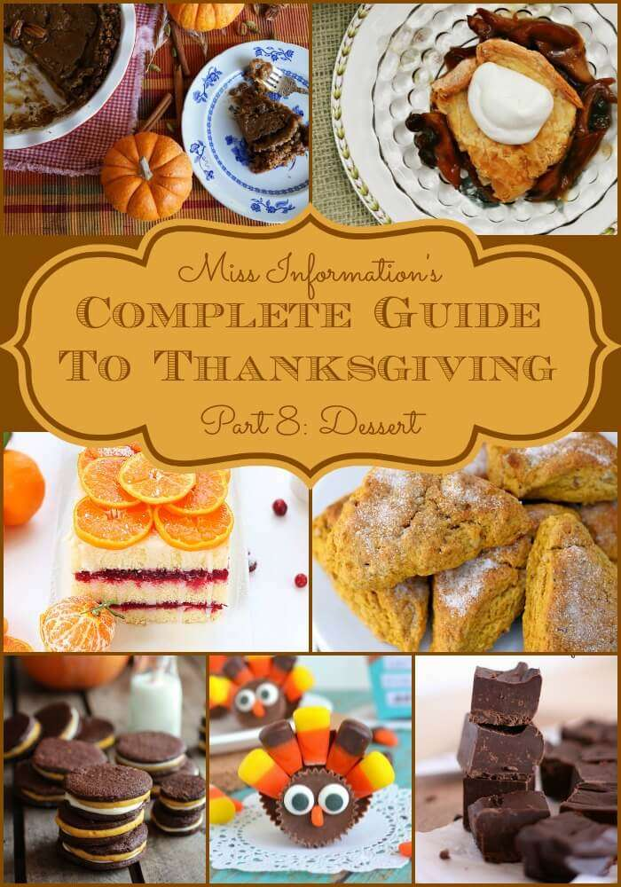 Thanksgiving Dessert Recipes including Pie's Cakes, Fudge and more from classic and kid-friendly to something slightly different