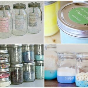 Mason Jar Organization Ideas
