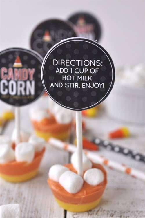 Candy Corn Hot CHocolate Stirrer