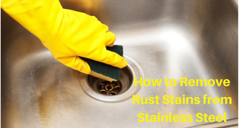 how to remove rust stains from stainless steel miss information. Black Bedroom Furniture Sets. Home Design Ideas